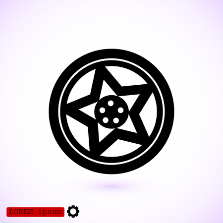 alloy wheel: Wheel disks icon, vector best flat icon.