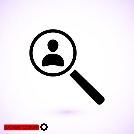Find people icon, vector best flat icon.