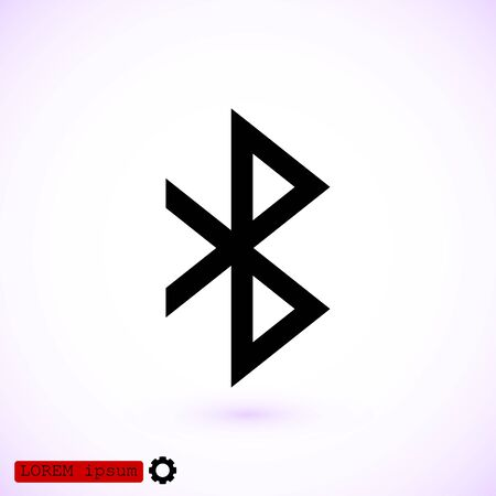 bluetooth icon, vector best flat icon, EPS