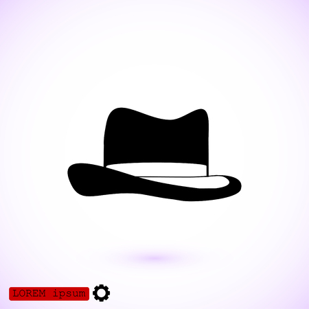 mens clothing: Hat icon, vector best flat icon, EPS