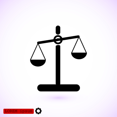 justice scale: scale icon, vector best flat icon, EPS