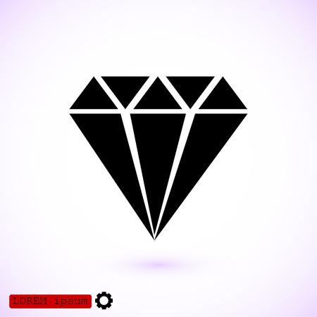 diamond stones: Diamond vector icon, vector best flat icon, EPS Illustration