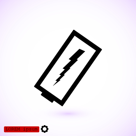 Discharged battery icon, vector best flat icon.
