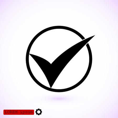 Ok vector icon, vector best flat icon.