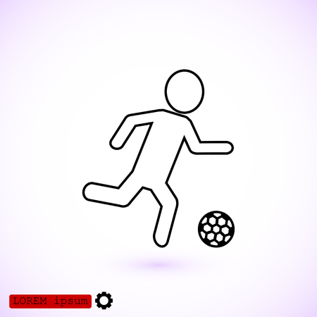 Rester version. Soccer, football players silhouettes icons, vector best flat icon, EPS Illustration