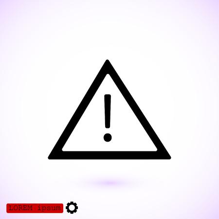 경고 roadsign 아이콘, 벡터 최고의 평면 아이콘, EPS