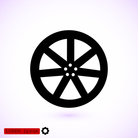 wheel disks icons, vector best flat icon, EPS Illustration