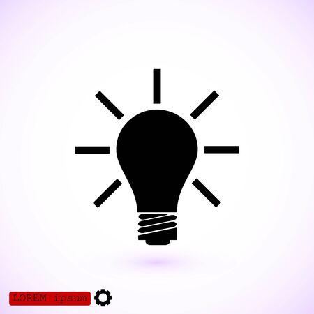 eps vector icon: light bulb icon, vector best flat icon EPS 10