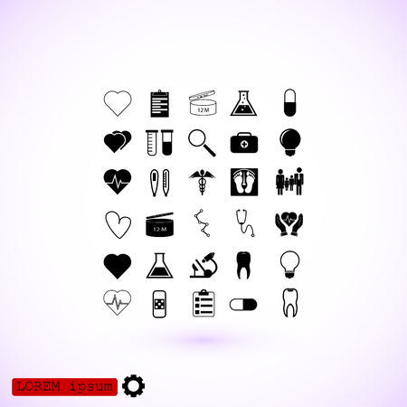eps vector icon: Medical icons set, vector best flat icon, EPS
