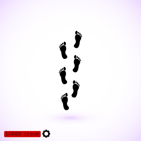 to commit: foot icon, vector best flat icon EPS