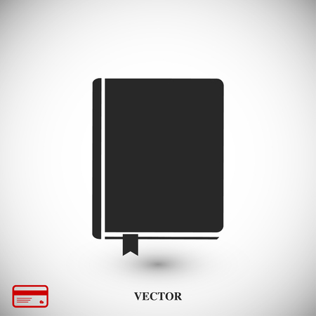 note paper: book icon, vector best flat icon, EPS Illustration