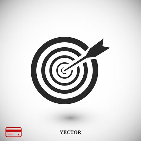 Aim icon, vector best flat icon, EPS