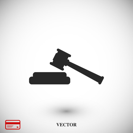Hammer judge icon, vector best flat icon EPS