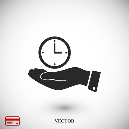 hands  hour: clock vector icon, vector best flat icon, EPS