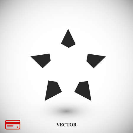 Star icon, vector best flat icon, EPS