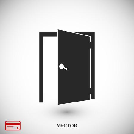 living room design: door icon, vector best flat icon, EPS