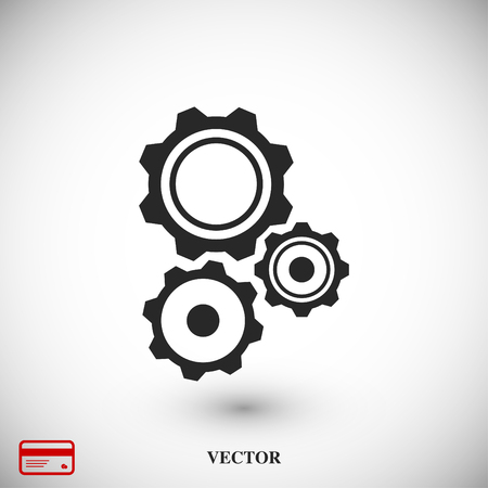 Gear icon, vector best flat icon EPS 10