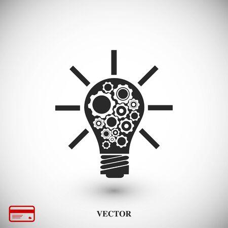 light bulb icon, vector best flat icon EPS 10