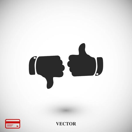 thumb up icons, vector best flat icon, EPS