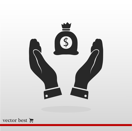 Pictograph of money icon, vector best flat icon, EPS Illustration