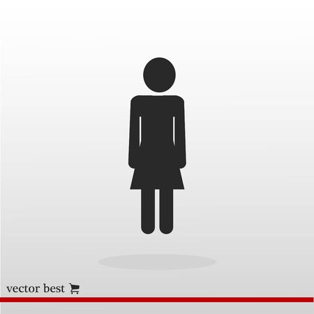 business woman: women icon, vector best flat icon, EPS
