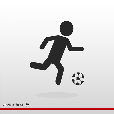 Raster version. Soccer, football players silhouettes, vector best flat icon, EPS