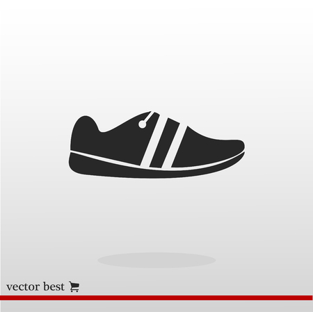 Shoe icon, vector best flat icon, EPS Illustration