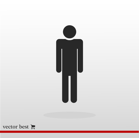 business woman: man icon, vector best flat icon, EPS