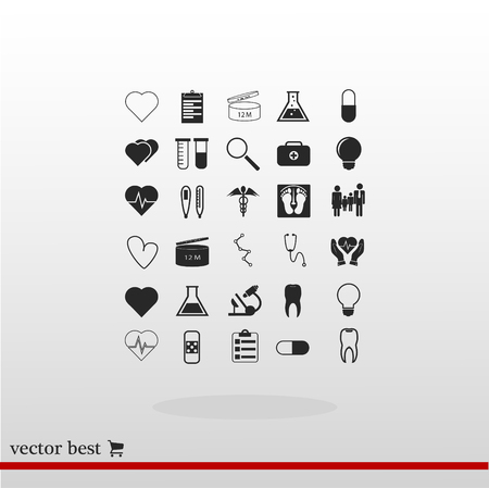 sick bed: Medical icons set, vector best flat icon, EPS