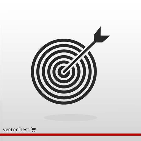 Target vector icon, vector best flat icon.