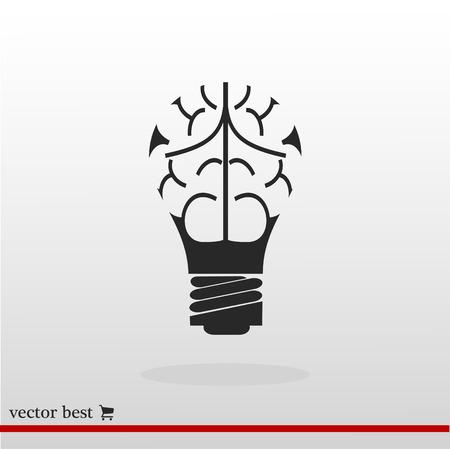 Light - bulb icon, best flat icon.