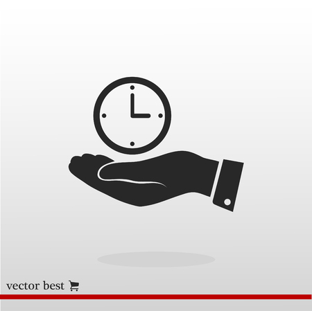 clock vector icon, vector best flat icon, EPS