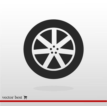 wheel icon, vector best flat icon, EPS
