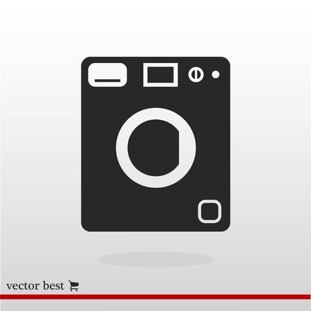 washhouse: Washing machine vector icon vector Illustration