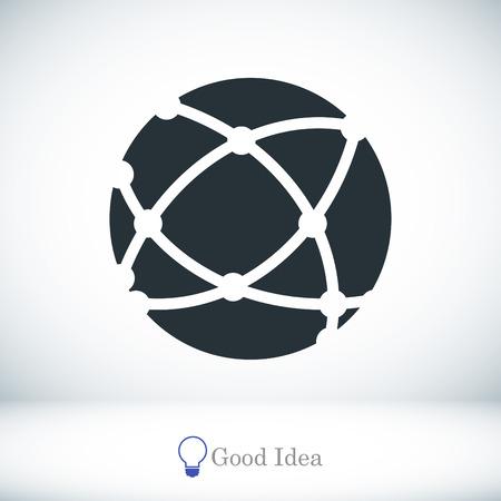 global communication: Global technology icon, vector best flat icon, EPS Illustration