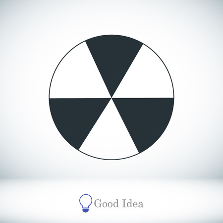 sprayed: radioactive sign sprayed on metal barrel icon, vector best flat icon, EPS