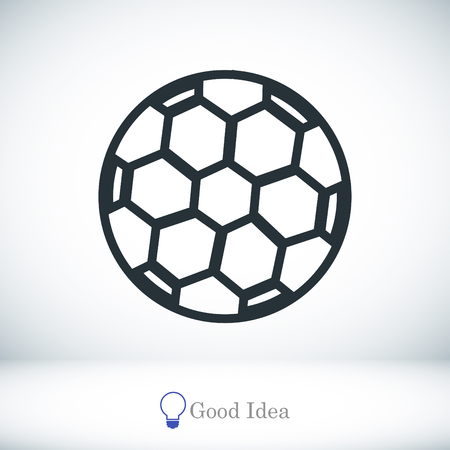soccer ball icon, vector best flat icon, EPS