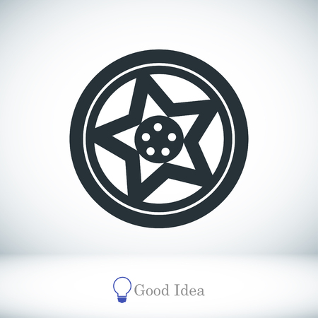 alloy wheel: wheel disks icon, vector best flat icon, EPS