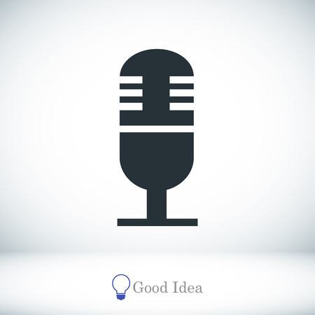 microphone icon, vector best flat icon, EPS