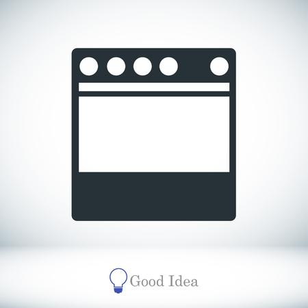 icône de la cuisinière, meilleure icône de vecteur, EPS