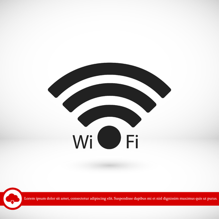 hot woman: Wi-Fi icon, vector best flat icon, EPS Illustration