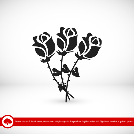 rose vector icon, vector best flat icon, EPS