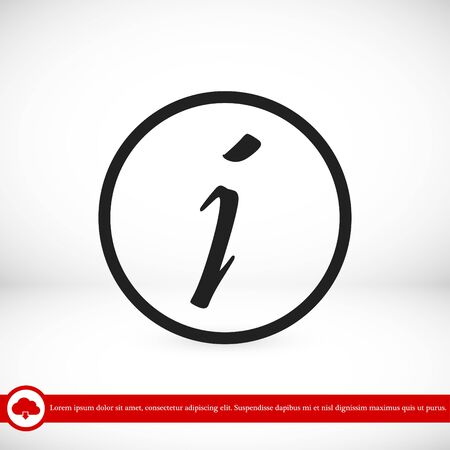 inform information: Information sign icon, vector best flat icon, EPS Illustration