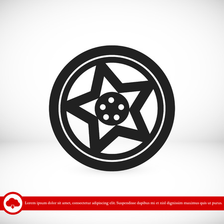 aluminium: wheel disks icon, vector best flat icon, EPS