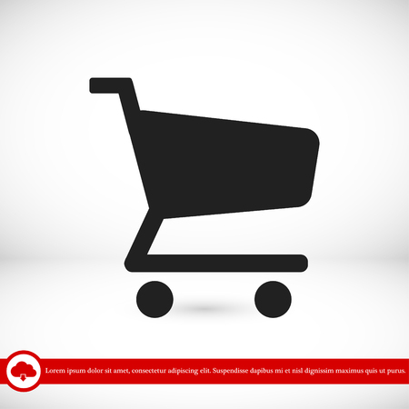 shopping chart vector icon, vector best flat icon, EPS