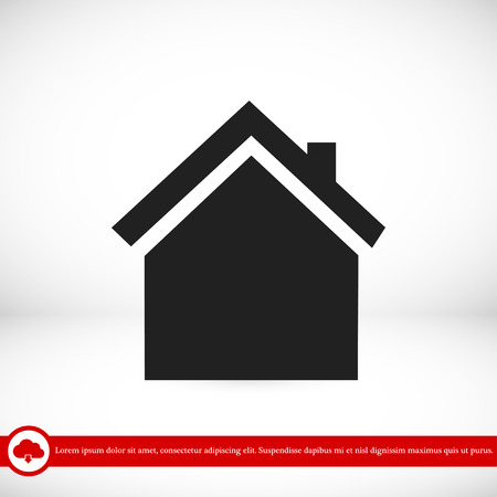 home icon, vector best flat icon, EPS