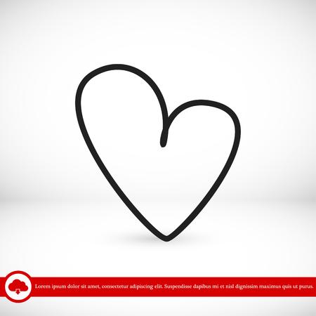 medical technology: hart icon, vector best flat icon, EPS Illustration
