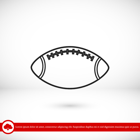 Rugby Ball icon, vector best flat icon Illustration