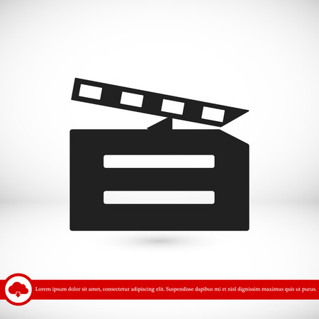 video icon, vector best flat icon, EPS Illustration