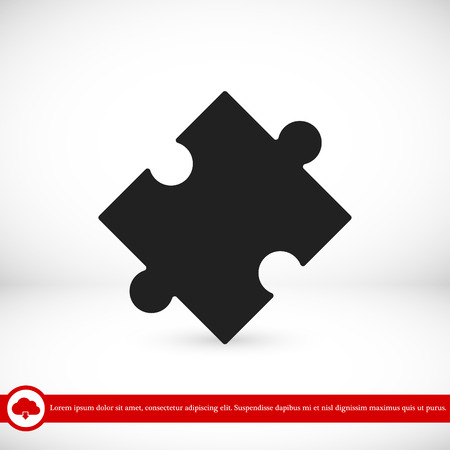 expertise: puzzle vector icon, vector best flat icon, EPS Illustration